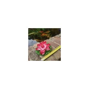 Medium red floating water lily 160mm