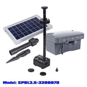 Solar Powered Fountain 330L/hr+LED Light + Battery SPBL3.5-320607D